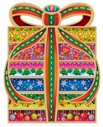 Новогоднее оконное украшение ПодарокНаклейки для интерьера, окна<br>Новогоднее украшение поможет вам украсить свой дом к предстоящим праздникам. Цветные изображения нанесены на прозрачную клейкую пленку. Декорировано глиттером (блёстками). Крепится к гладкой поверхности стекла посредством статического эффекта.С помощью та...<br><br>Год: 2012
