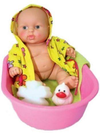 Набор Девочка-карапуз в ванночкеКуклы<br>Чудесный карапуз в своей кукольной ванночке выглядит совершенно как настоящий ребенок. И так же, как у реального младенца, на его пухленьких, как у всех малышей, ручках и ножках - трогательные младенческие складочки. Почти всем детям нравится купаться и п...<br><br>Год: 2014