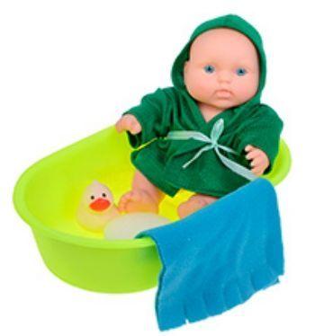 Набор Мальчик-карапуз в ванночкеКуклы<br>Чудесный карапуз в своей кукольной ванночке выглядит совершенно как настоящий ребенок. И так же, как у реального младенца, на его пухленьких, как у всех малышей, ручках и ножках - трогательные младенческие складочки. Почти всем детям нравится купаться и п...<br><br>Год: 2014