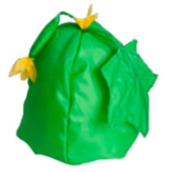 Шапка карнавальная ОгурецКарнавальные костюмы, маски, парики<br>Шапка на резинке.Размер универсальный.Материал: текстиль.<br><br>Год: 2015