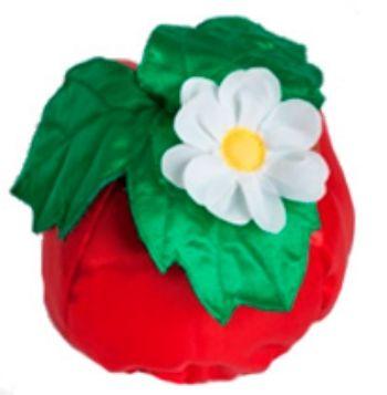 Шапка карнавальная КлубничкаКарнавальные костюмы, маски, парики<br>Шапка на резинке.Размер универсальный.Материал: текстиль.<br><br>Год: 2015