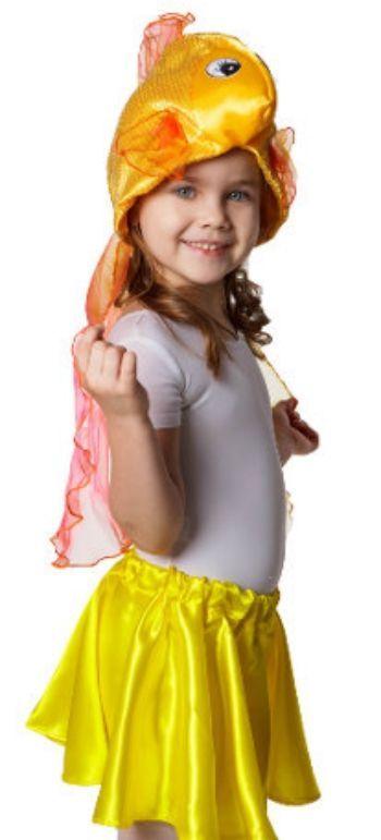 Шапка карнавальная Золотая рыбкаИгровая деятельность в ДОО<br>Шапка на резинке.Размер универсальный.Материал: текстиль.<br><br>Год: 2016