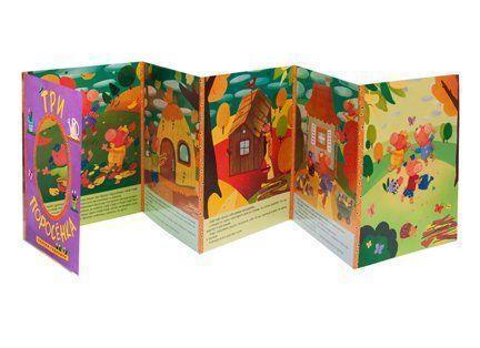 Три поросенка. Сказки-гармошкиКнижки-игрушки<br>Яркая книжка Три поросенка серии Сказки-гармошки обязательно заинтересует вашего ребенка и принесет ему много радости. Ведь теперь он может заглянуть в любимую историю о трех поросятах, для этого достаточно просто развернуть гармошку и заглянуть в о...<br><br>Год: 2016<br>ISBN: 978-5-4315-0898-1<br>Высота: 220<br>Ширина: 165<br>Толщина: 3