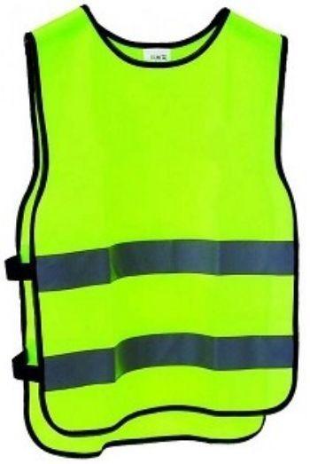Жилет сигнальный, детскийДетская комната<br>Обеспечить безопасность ребенка на прогулке или при выезде на экскурсию поможет сигнальный жилет яркого цвета с двумя светоотражающими полосами.Лимонный сигнальный цвет изделия сделает маленького пешехода заметным водителям при дневном свете, а сигнальные...<br><br>Год: 2016<br>Высота: 245<br>Ширина: 200<br>Толщина: 8