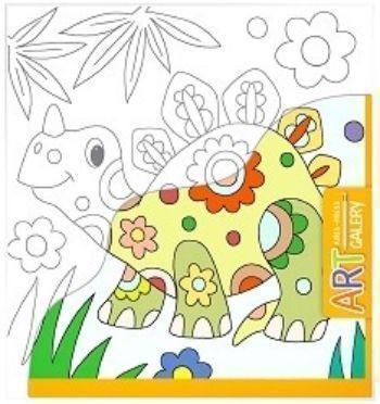 Динозавр. Основа для творчества малая. Арт-галереяРисование<br>Раскраска Динозавр предназначена для детей от 3-х лет. Она способствует открытию творческих способностей вашего ребёнка.Основой для раскрашивания является бумажный холст - фактурная бумага, наклеенная на плотный картон, что создает удобство в работе.Воз...<br><br>Год: 2017<br>Высота: 205<br>Ширина: 190<br>Толщина: 2