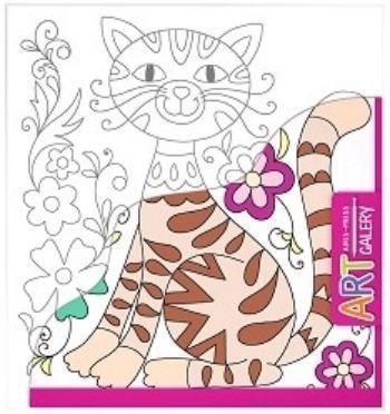 Кот. Основа для творчества малая. Арт-галереяРисование<br>Раскраска Кот предназначена для детей от 3-х лет. Она способствует открытию творческих способностей вашего ребёнка.Основой для раскрашивания является бумажный холст - фактурная бумага, наклеенная на плотный картон, что создает удобство в работе.Возможно...<br><br>Год: 2017<br>Высота: 205<br>Ширина: 190<br>Толщина: 2