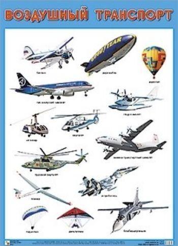 Плакат Воздушный транспортЗанятия с детьми дошкольного возраста<br>Плакат большого формата Воздушный транспорт познакомит детей с различными видами транспорта: вертолетом, самолетом и другими. Четкие, понятные рисунки обязательно заинтересуют ребят и помогут усвоить новые знания.Формат А2.Материал: картон.<br><br>Год: 2018<br>ISBN: 978-5-4315-0834-9<br>Высота: 690<br>Ширина: 500<br>Толщина: 1