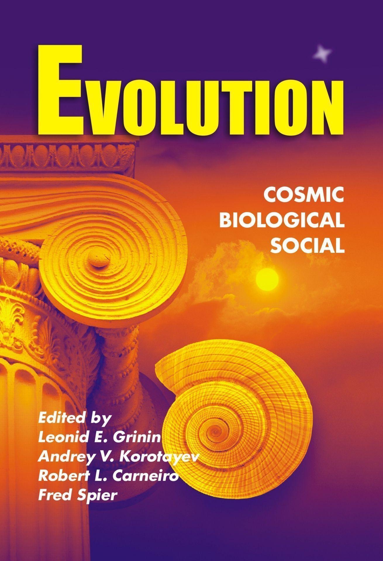 Evolution: Cosmic, Biological, and Social (Эволюция: Космическая, биологическая и социальная. Альманах на английском языке)Альманахи<br>Этим выпуском начинается серия альманахов с общим названием Эволюция, вокруг которых планируется объединить исследователей, работающих во всех областях эволюционистики. Известна продуктивность междисциплинарных исследований, и одной из самых плодотворны...<br><br>Авторы: Grinin Leonid, Korotayev Andrey, Carneiro Robert, Spier Fred<br>Год: 2011<br>Серия: Для студентов и преподавателей<br>ISBN: 978-5-7057-2784-1<br>Высота: 210<br>Ширина: 140<br>Переплёт: мягкая, склейка