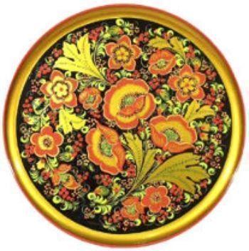 Тарелка-панно ХохломаПодарки для кухни<br>Тарелка-панно станет красочным украшением любой комнаты, а также станет отличным подарком близким.Изделие изготовлено по древним секретам хохломской росписи и является уникальным произведением искусства.Материал: дерево.<br><br>Год: 2015<br>Высота: 300<br>Ширина: 20