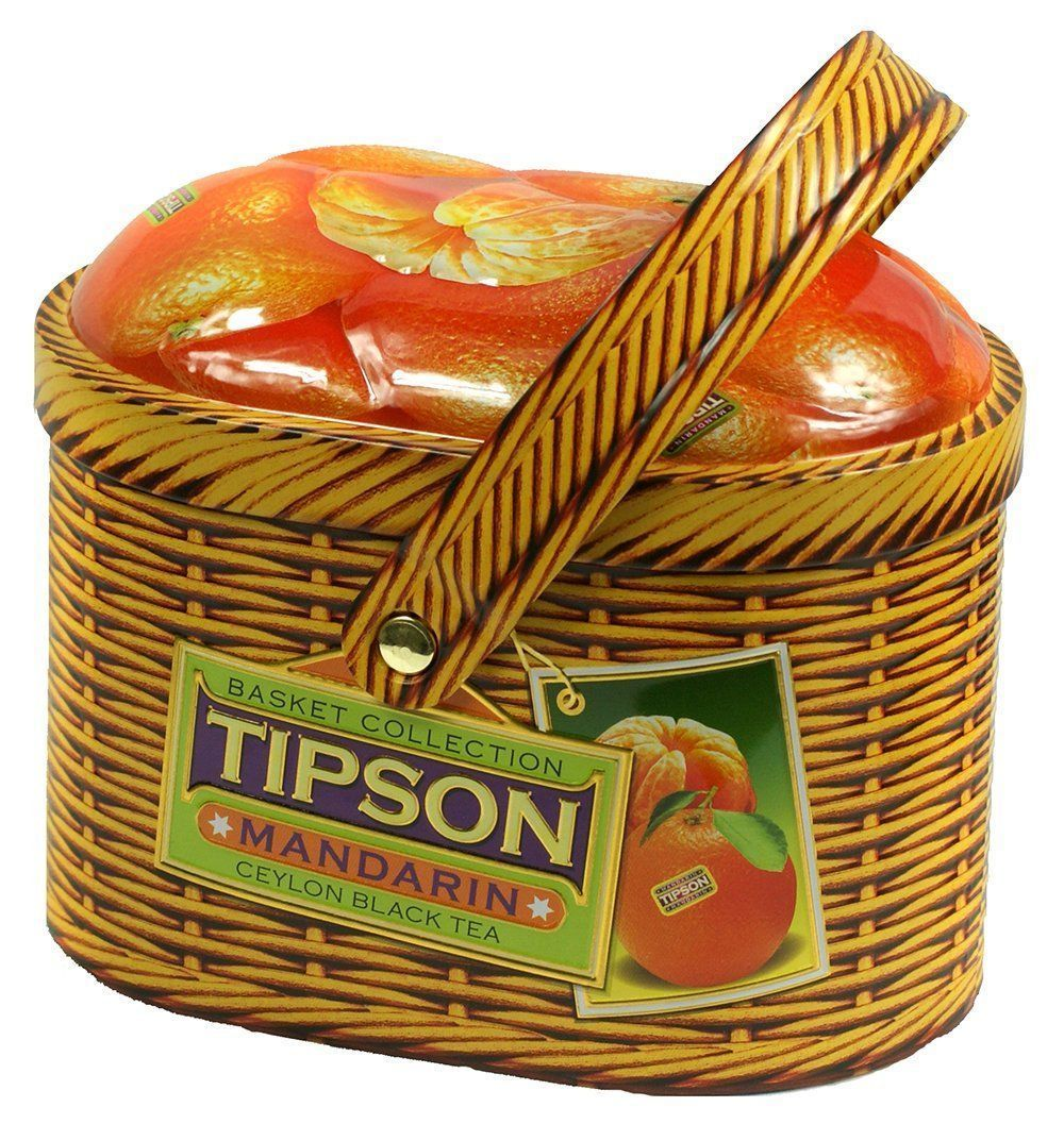 Чай Tipson. Зеленый Мандарин лукошко (100 г)Чай в подарок<br>Чай зелёный цейлонский байховый листовой, кусочки киви, кокосовые хлопья, лепестки подсолнечника, ароматизаторы абрикоса, ананаса и папайи. 100 гр., ж/б.Необычный вкус чая Tipson делает его отличным подарком к любому празднику.<br><br>Год: 2015<br>Высота: 150<br>Ширина: 100<br>Толщина: 80