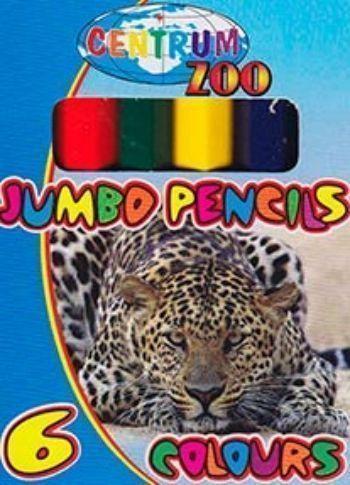 Набор цветных карандашей JUMBO ZOO. 6 цветовФломастеры, цветные карандаши, краски, гуашь<br>Набор цветных карандашей 6 шт.(6 цветов) в упаковке с европодвесом.<br><br>Год: 2015<br>Высота: 90<br>Ширина: 65<br>Толщина: 10