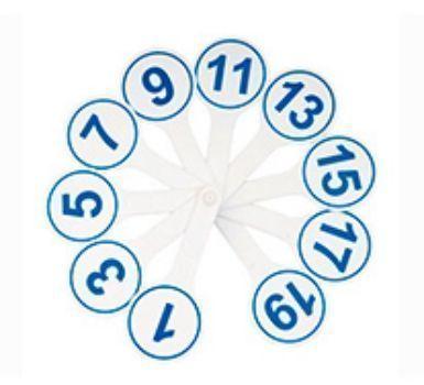 Касса (веер) цифр от 1 до 20Канцелярские товары. Школьные принадлежности<br>Игровые пособия из серии Веер позволят родителям и педагогам познакомить ребенка с цифрами, гласными и согласными буквами и т.д. С помощью этих пособий в игровой форме ребенку легко объяснить основные понятия арифметики, обучить грамоте, заложить знания...<br><br>Год: 2016<br>Высота: 155<br>Ширина: 67<br>Толщина: 12