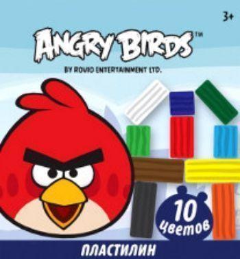 Пластилин Angry Birds, 10 цветовПластилин<br>Классический пластилин, подходит для использования на занятиях в детском саду и школе. Предназначен для лепки и моделирования. Яркая цветовая гамма, легко размягчается и не липнет к рукам.В комплекте: пластилин 10 цветов и стек.Для детей от 3-х лет.<br><br>Год: 2017<br>Высота: 165<br>Ширина: 145<br>Толщина: 12