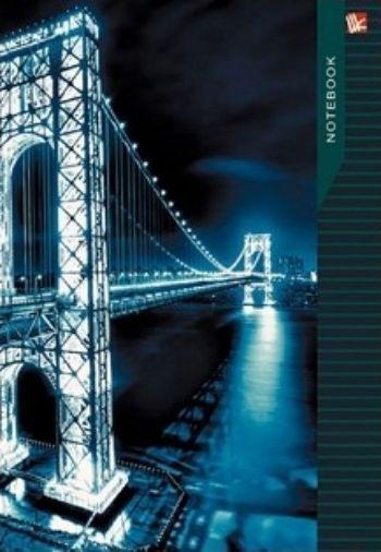 Книга для записей Ночной мостФормат А5<br>Книга для записей, А5, 100 листов.<br><br>Год: 2016<br>Высота: 210<br>Ширина: 145<br>Толщина: 10<br>Переплёт: твёрдая