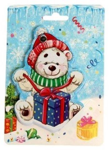 Блокнот фигурный на металлическом креплении Медвежонок, 40 л.Подарочные наборы<br>Фигурный блокнот на открытке, 40 листов.Этот товар можно преподнести в качестве подарка к празднику.<br><br>Год: 2016<br>Высота: 160<br>Ширина: 110<br>Толщина: 4