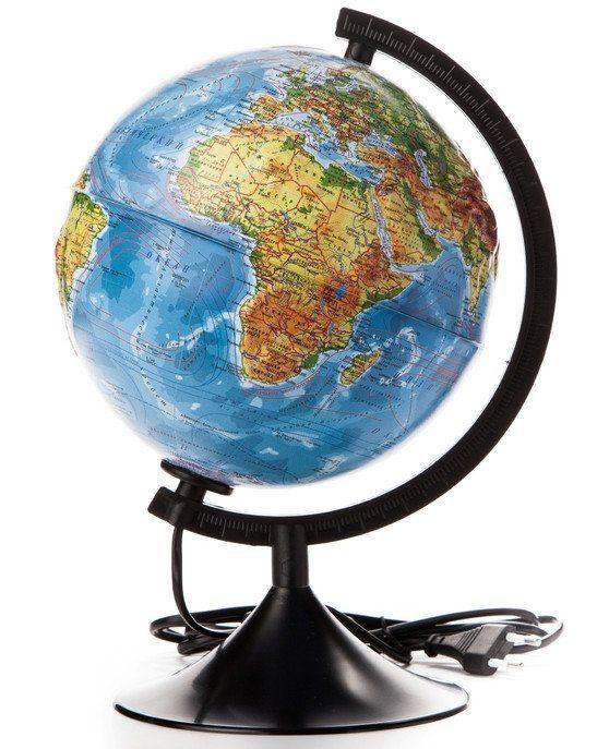 Глобус Земли Классик, физико-политический рельефный, с подсветкой, 210 ммГлобусы<br>Глобус Земли станет незаменимым атрибутом обучения не только школьника, но и студента. Глобус - самый простой способ привить ребёнку любовь к географии. Он является отличным наглядным примером, который способен в игровой доступной и понятной форме объясни...<br><br>Год: 2017<br>Высота: 210<br>Ширина: 210<br>Толщина: 210