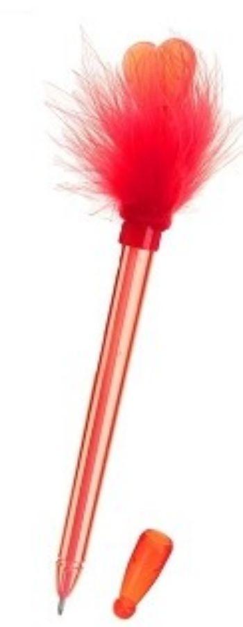 Ручка с подсветкой Сердце, на пружинкеКанцелярские подарочные наборы<br>Ручка шариковая с подсветкой,  цвет чернил - синий.Материал: Перо, пластик.<br><br>Год: 2017<br>Высота: 190<br>Ширина: 10<br>Толщина: 10