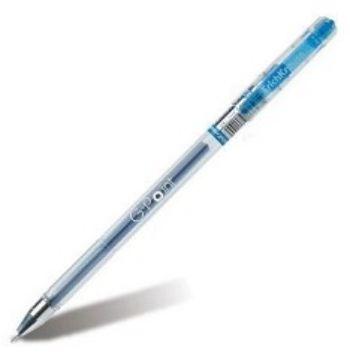 Ручка гелевая Erich Krause, G-Point, синяяРучки<br>Удобная гелевая ручка с прозрачным корпусом для контроля уровня чернил. Рифление в зоне захвата. Металлизированный наконечник. Игольчатый пишущий узел. Цвет: синий.<br><br>Год: 2017<br>Высота: 150<br>Ширина: 8<br>Толщина: 8