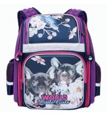 Рюкзак школьный Grizzly, фиолетовыйРюкзаки, ранцы, сумки<br>Рюкзак школьный, одно отделение, два объемных кармана на молнии на передней стенке, боковые карманы из сетки, внутренний карман-пенал для карандашей, внутренний составной пенал-органайзер, жесткая анатомическая спинка, дополнительная ручка-петля, укреплен...<br><br>Год: 2017<br>Высота: 370<br>Ширина: 300<br>Толщина: 160