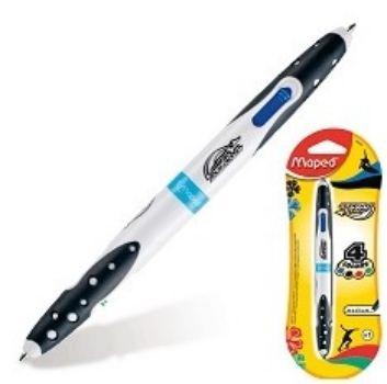 Ручка шариковая Twin Tip, 4 цв.Ручки<br>Автоматическая шариковая ручка одноразового использования позволяет писать синей и черной пастой с одной стороны, зеленой и красной - с противоположной. Корпус выполнен из пластика черно-белого цвета. Имеет резиновые манжетки для удобства письма. Подходит...<br><br>Год: 2017<br>Высота: 200<br>Ширина: 80<br>Толщина: 10