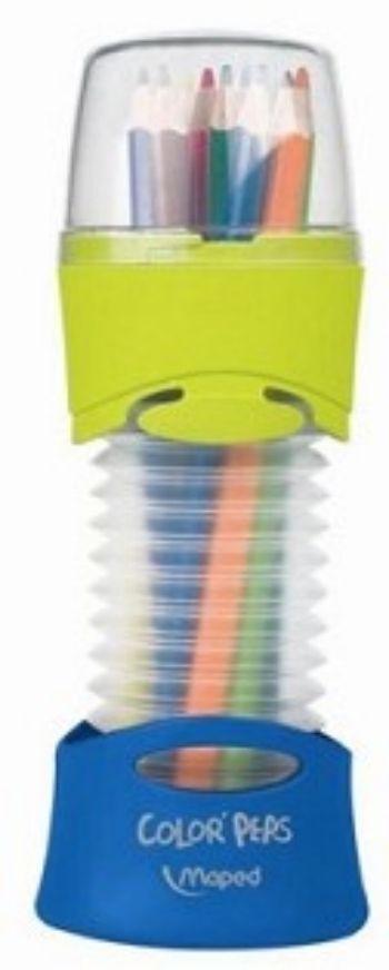 Карандаши цветные Maped, в тубусеФломастеры, цветные карандаши, краски, гуашь<br>Карандаши цветные с заточенным грифелем, 12 цветов. Яркие насыщенные цвета, штрихи мягко и ровно ложатся на бумагу, карандаши легко затачиваются и имеют эргономичную трехгранную форму.Материал: дерево липа.Упаковка: гибкий пенал в форме гофрированного туб...<br><br>Год: 2017<br>Высота: 200<br>Ширина: 90<br>Толщина: 90