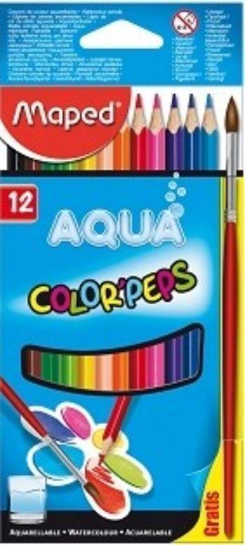 Карандаши цветные акварельные Color Peps Aqua, 12 цв.Фломастеры, цветные карандаши, краски, гуашь<br>Высококачественные заточенные цветные акварельные карандаши в корпусе из американской липы, треугольной эргономичной формы для удобного использования. Мягкий и прочный акварельный грифель, легко затачивается, не трескается. Насыщенные цвета, название цвет...<br><br>Год: 2017<br>Высота: 175<br>Ширина: 95<br>Толщина: 8
