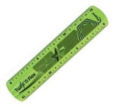 Линейка Twistn Flex, 15 см, неломающаясяЛинейки<br>Чертежные инструменты Twistn Flex сгибаются в любом направлении, после непродолжительного времени принимают первоначальную форму и не деформируются. Длина линейки 15 см.<br><br>Год: 2017<br>Высота: 170<br>Ширина: 35<br>Толщина: 2