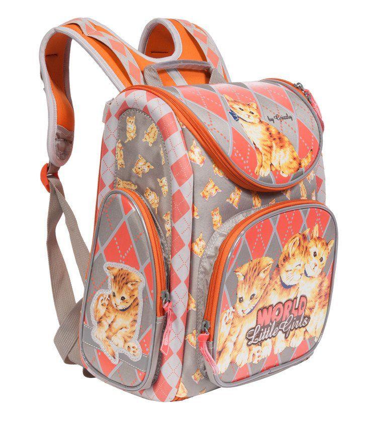 Рюкзак школьный Grizzly, серыйРюкзаки, ранцы, сумки<br>Рюкзак-трансформер школьный с одним основным отделением, передним и боковыми объемными карманами на молнии, объемным пеналом на передней стенке, с анатомической спинкой. Рюкзак имеет светоотражающие элементы.Размеры: 34х37х18 см.Материал: нейлон.Цвет: сер...<br><br>Год: 2016<br>Высота: 370<br>Ширина: 340<br>Толщина: 180