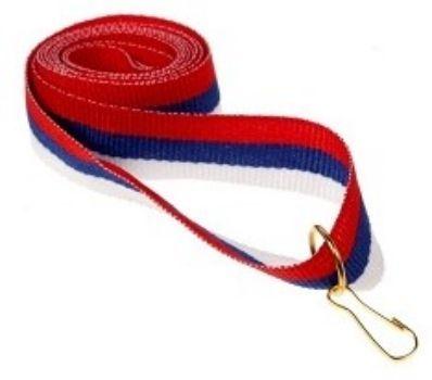 Лента для медали на карабине, триколор1 Сентября<br>Размер ленты 360х15 мм.Материал: металл, текстиль.<br><br>Год: 2017