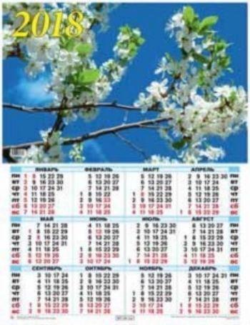 Календарь настенный Цветение весны 2018Календарь-плакат<br>Вашему вниманию предлагается настенный календарь на 2018 год.Формат А2.<br><br>Год: 2017<br>Высота: 585<br>Ширина: 440<br>Толщина: 1