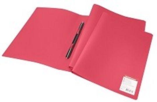 Папка с пружинным cкоросшивателем Erich Krause, краснаяПапка-скоросшиватель<br>Папка с металлическим пружинным скоросшивателем предназначена для хранения перфорированных документов. Папка изготовлена из плотного непрозрачного пластика.<br><br>Год: 2017<br>Высота: 310<br>Ширина: 230<br>Толщина: 16