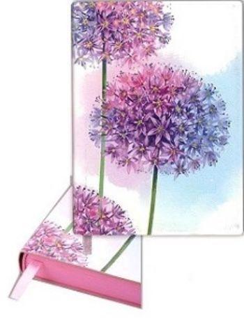 Ежедневник недатированный Сиреневые цветы, А6Формат А6<br>Ежедневник недатированный, линейка, 320 стр., розовый срез, ляссе.<br><br>Год: 2017<br>Высота: 172<br>Ширина: 122<br>Толщина: 12