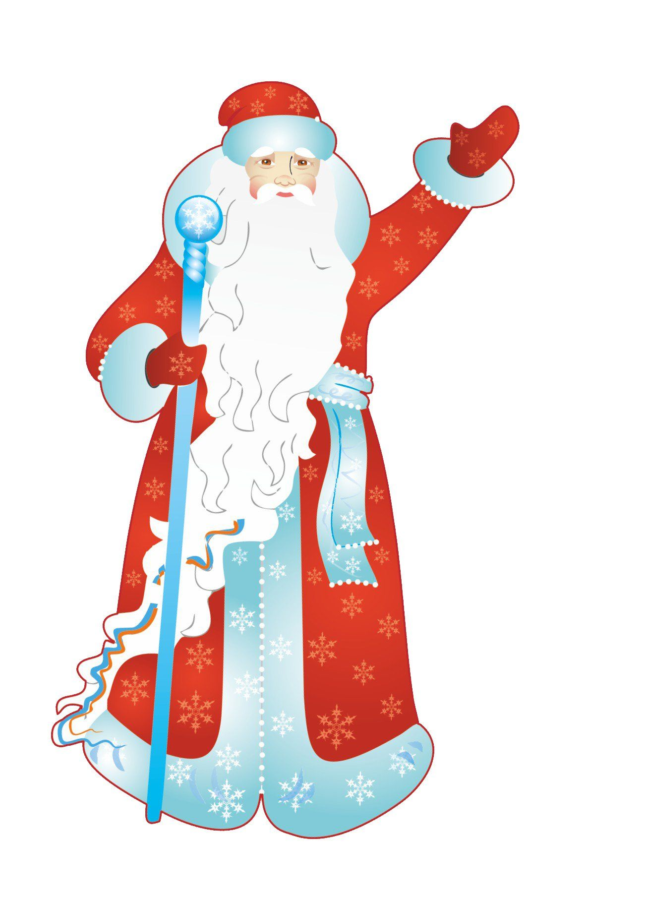 Мини-плакат вырубной Дед Мороз: 106х139 ммТовары для оформления и проведения праздника<br>.<br><br>Год: 2018<br>Серия: Вырубные фигуры для оформления<br>Высота: 139<br>Ширина: 106<br>Переплёт: набор