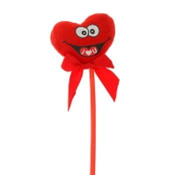 Сердце на палочке с бантикомШкатулки, копилки, статуэтки<br>Сердца на палочке с бантиком можно использовать как декор для квартиры, зала, свадебного стола.<br><br>Год: 2014<br>Высота: 430<br>Ширина: 71<br>Толщина: 17