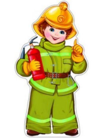 Плакат вырубной ПожарныйВырубные фигуры<br>.<br><br>Год: 2018<br>Высота: 500<br>Ширина: 350<br>Толщина: 1
