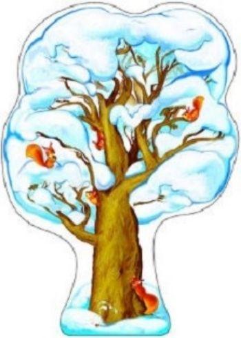 Плакат вырубной Дуб зимнийВырубные фигуры<br>.<br><br>Год: 2017<br>Высота: 500<br>Ширина: 350<br>Толщина: 1