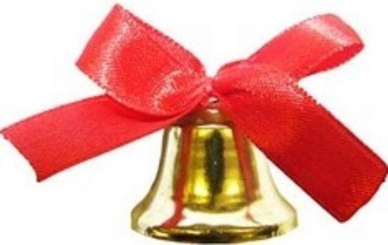 Колокольчик для выпускниковКолокольчики<br>Колокольчик с красным бантом.Материал: металл, атлас.<br><br>Год: 2016<br>Высота: 25<br>Ширина: 20<br>Толщина: 20