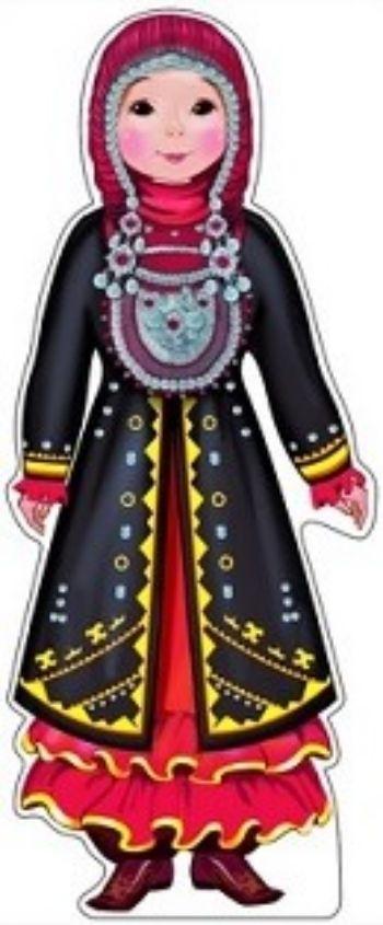 Плакат вырубной Девочка в башкирском костюмеВырубные фигуры<br>.<br><br>Год: 2017<br>Высота: 500<br>Ширина: 200<br>Толщина: 1
