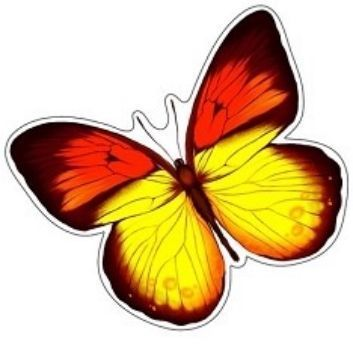 Плакат вырубной БабочкаВырубные фигуры<br>.<br><br>Год: 2017<br>Высота: 190<br>Ширина: 230<br>Толщина: 1