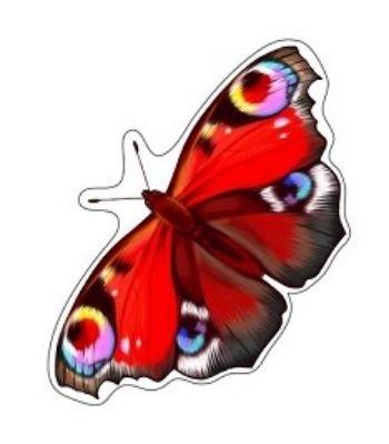 Плакат вырубной Бабочка. Павлиний глазВырубные фигуры<br>.<br><br>Год: 2017<br>Высота: 180<br>Ширина: 290<br>Толщина: 1
