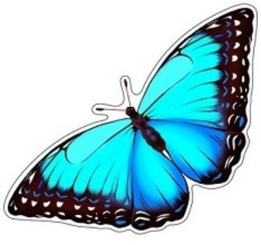 Плакат вырубной Бабочка. ПарусникВырубные фигуры<br>.<br><br>Год: 2018<br>Высота: 160<br>Ширина: 320<br>Толщина: 1