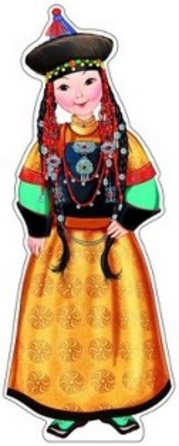 Плакат вырубной Девочка в бурятском костюмеВырубные фигуры<br>.<br><br>Год: 2016<br>Высота: 500<br>Ширина: 350<br>Толщина: 1