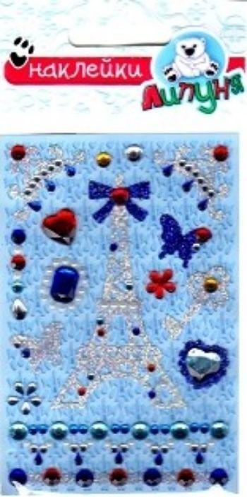 Наклейки хрустальные ПарижУкрашения своими руками<br>Декоративные хрустальные наклейки предназначены для детского творчества и декорирования различных поверхностей, не оставляют следов на одежде.Состав: полипропиленовые смолы и другие полимерные материалы.Возраст: с 3-х лет.<br><br>Год: 2017<br>Высота: 120<br>Ширина: 80<br>Толщина: 1
