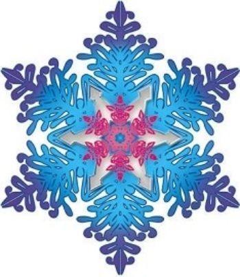 СнежинкаТовары для оформления и проведения праздника<br>Материал: картон.<br><br>Год: 2017<br>Высота: 130<br>Ширина: 130<br>Толщина: 1