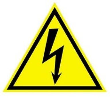 Наклейка Предупреждающий знак. Осторожно! Высокое напряжениеПоощрительные карточки, наклейки<br>.<br><br>Год: 2018<br>Высота: 90<br>Ширина: 90<br>Толщина: 1