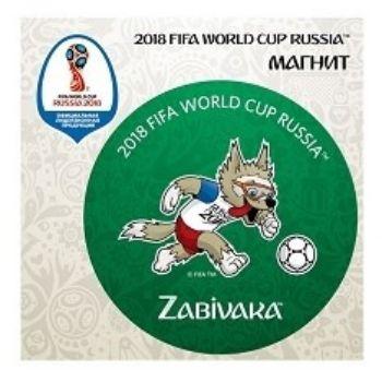Магнит виниловый FIFA 2018. Забивака Вперед!Магниты<br>Магнит виниловый с символикой чемпионата мира FIFA 2018.Диаметр 60 мм.<br><br>Год: 2018<br>Высота: 75<br>Ширина: 75<br>Толщина: 2