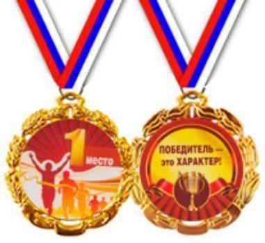 Медаль металлическая на ленте 1 местоМедали<br>Диаметр - 70 мм.<br><br>Год: 2013
