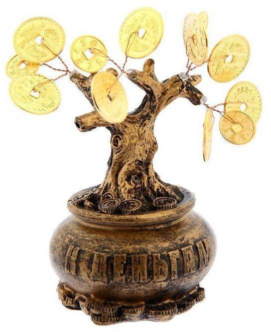 Денежное дерево К деньгамШкатулки, копилки, статуэтки<br>Денежное дерево К деньгам приносит в дом обладателя благоприятную атмосферу, даруя счастье и удачу. В зависимости от места размещения можно акцентировать привлечение разных положительных энергий. Если дерево счастья находится в восточном секторе дома, т...<br><br>Год: 2016<br>Высота: 150<br>Ширина: 100<br>Толщина: 60