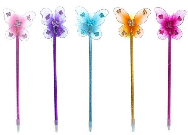 Ручка шариковая-прикол Бабочка, миксКанцелярские подарочные наборы<br>Ручка шариковая-прикол, цвет чернил - синий.Ручка представлена в ассортименте. Выбор конкретных цветов и моделей не предоставляется.<br><br>Год: 2017<br>Высота: 200<br>Ширина: 70<br>Толщина: 15
