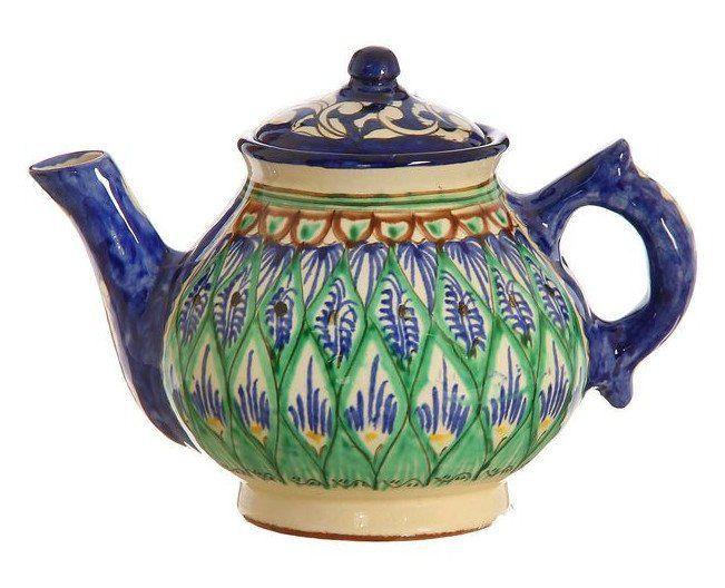 Чайник малый Риштан, 0,7 л., миксАксессуары и сувениры<br>Чайник из глазурованной керамики ручной работы - то не просто атрибут чаепити, то украшение стола. Посуда с национальной роспись станет отменным подарком дл ценителей высокородной посуды.Риштан - город на востоке Узбекистана, один из древнейших в Фер...<br><br>Год: 2017<br>Высота: 200<br>Ширина: 140<br>Толщина: 140